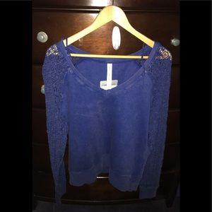 NWT Lorna Jane Indigo Bondi Blue Lace Sweatshirt